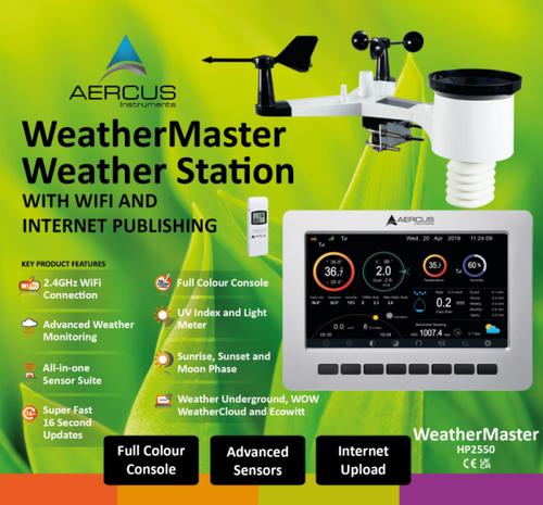 Aercus Instruments  WeatherMaster - Advanced Weather Station with WiFi and optional extra sensors