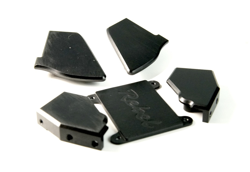 Black Anodized Graffiti Aluminum Set