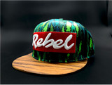Fly Trees Edition Wood Brim Rebel Hat (Discontinued Limited Edition)