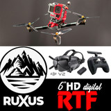 ruXus 6 inch DJI HD Ready to Fly Goggles & Radio Bundle