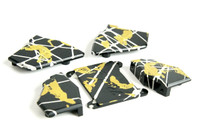 Tri - Anodized Graffiti Aluminum Set (Black/Yellow/Silver )