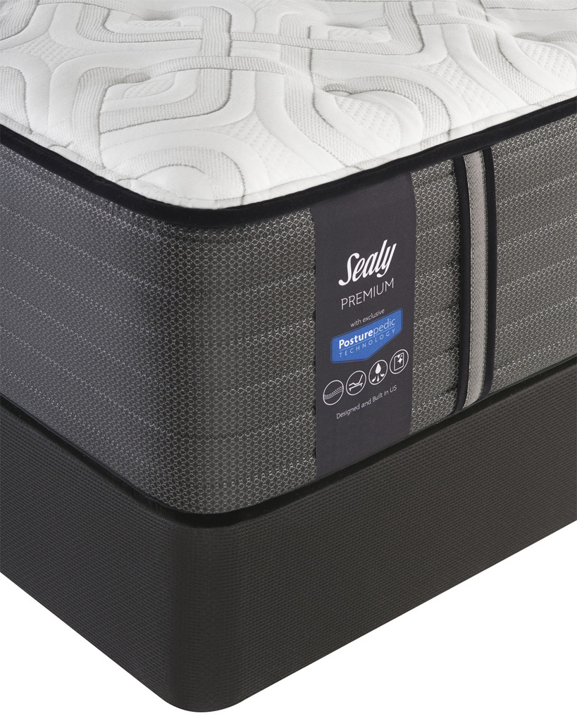 Sealy Posturepedic Premium Exuberant Cushion Firm Mattress and BoxSpring  Corner