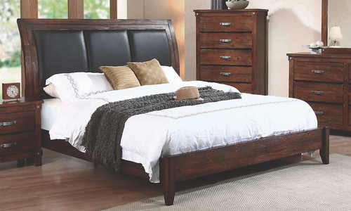 Noble Collection - Noble Rustic Oak California King Panel Bed
