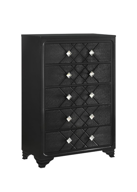Penelope Collection - Penelope 5-drawer Chest Black