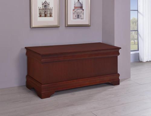 Louis Philippe - Rectangular Cedar Chest Warm Brown
