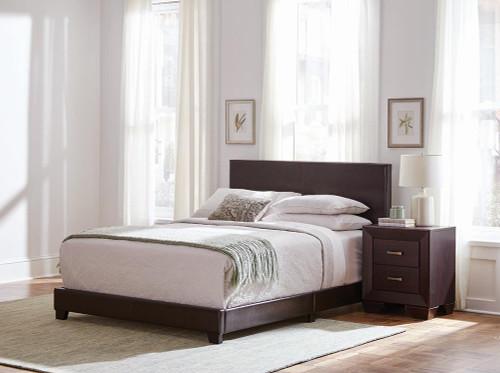 Dorian 5-piece Twin Bedroom Set Brown And Dark Cocoa