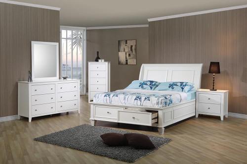 Selena Coastal White Twin Five-piece Set