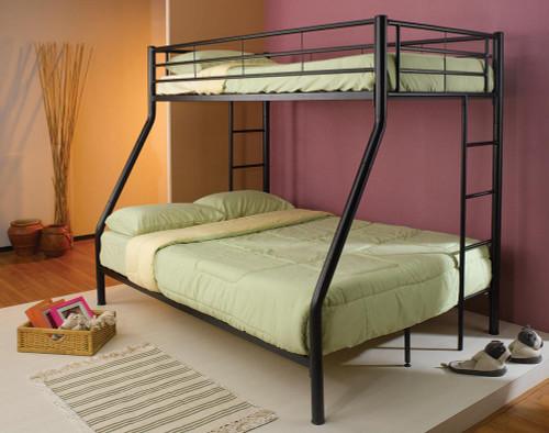 Hayward Bunk Bed - Hayward Twin Over Full Bunk Bed Black