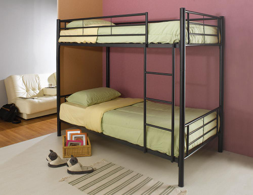 Hayward Bunk Bed - Hayward Twin Over Twin Bunk Bed Black