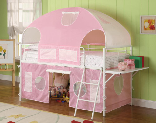 Sweetheart Tent Bed - Pink - Sweetheart Tent Loft Bed Pink And White