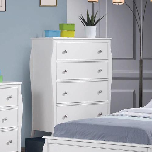 Dominique Collection - Dominique 4-drawer Chest White