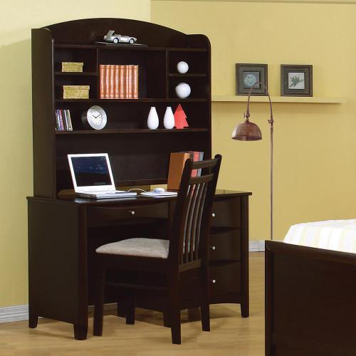 Phoenix Collection - Phoenix 4-drawer Computer Desk Cappuccino