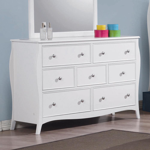 Dominique Collection - Dominique 7-drawer Dresser White