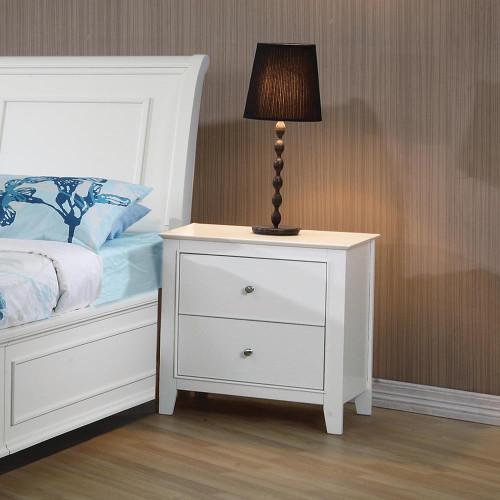 Selena Collection - Selena 2-drawer Nightstand White