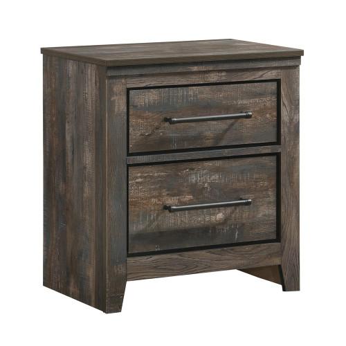 Ridgedale Collection - Ridgedale 2-drawer Nightstand Weathered Dark Brown