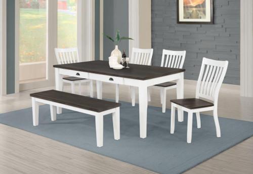 Kingman Collection - Kingman 6-piece Rectangular Dining Set Espresso And White