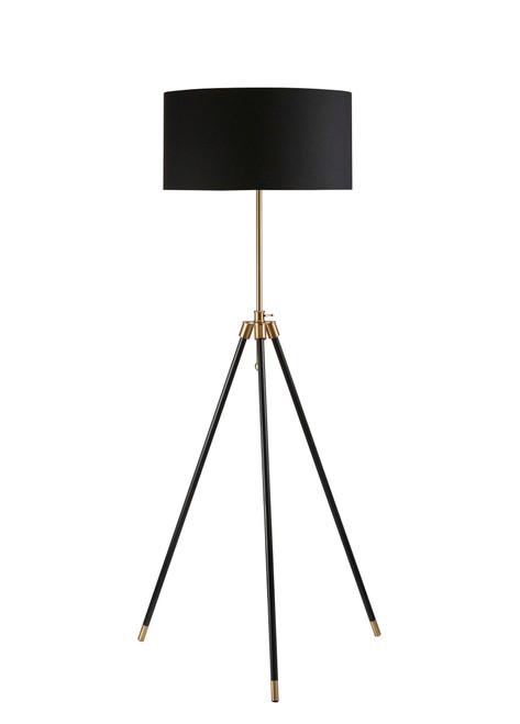Black - Tripod Floor Lamp Black And Gold