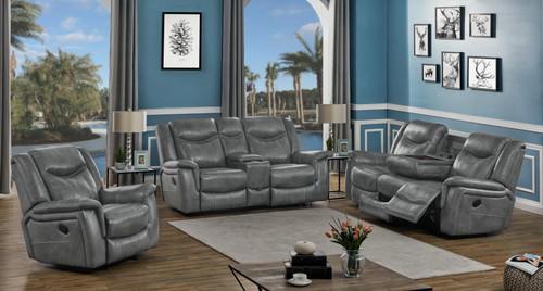 Conrad Motion Collection - Grey - Conrad 3-piece Living Room Set Grey