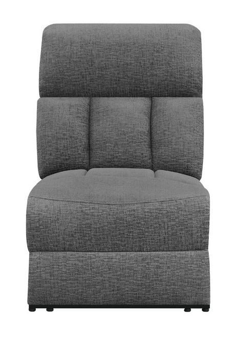 Charcoal - Armless Power Recliner