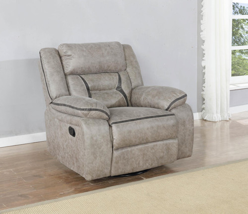 Taupe - Swivel Glider Recliner