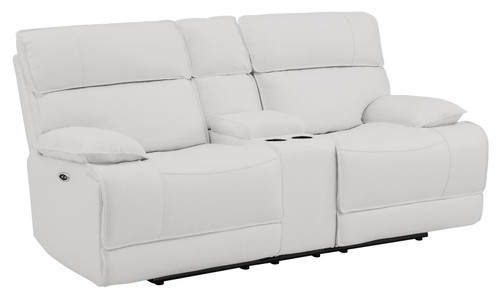 Stanford Motion Collection - White - Power Loveseat