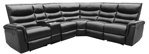 Black - 6 Pc Motion Sectional