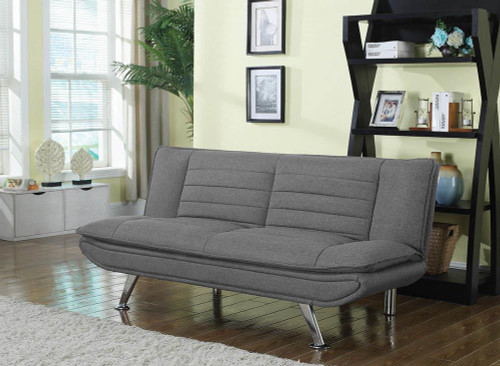 Grey - Julian Upholstered Sofa Bed With Pillow-top Seating Grey