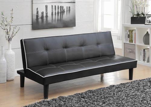 Living Room : Sofa Beds - Black - Katrina Tufted Upholstered Sofa Bed Black