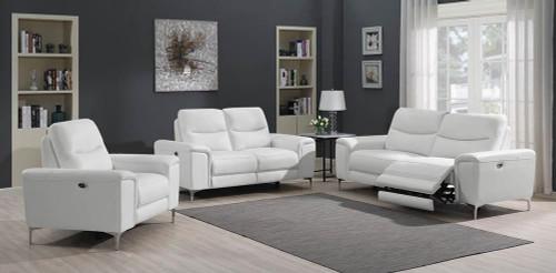Largo Motion Collection - White - Largo Upholstered Power Sofa White