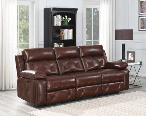 Chester Motion Collection - Chocolate - 3 Pc Power2 Sofa