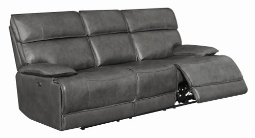 Stanford Motion Collection - Charcoal - Stanford Cushion Back Power Sofa Charcoal