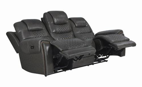 North Motion Collection - Charcoal - North Cushion Back Power^2 Sofa Grey