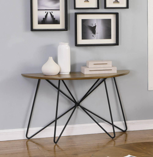 Churchill Semicircle Sofa Table Dark Brown And Black