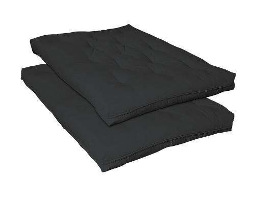 "Futon Mattresses - Black - 7"" Deluxe Futon Pad Black"