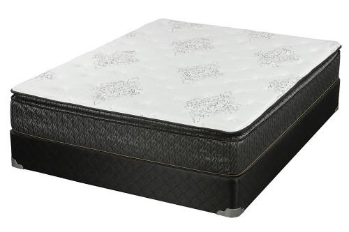 Freya Pillow Top Mattress - White / Charcoal - Freya Eastern King Mattress Grey
