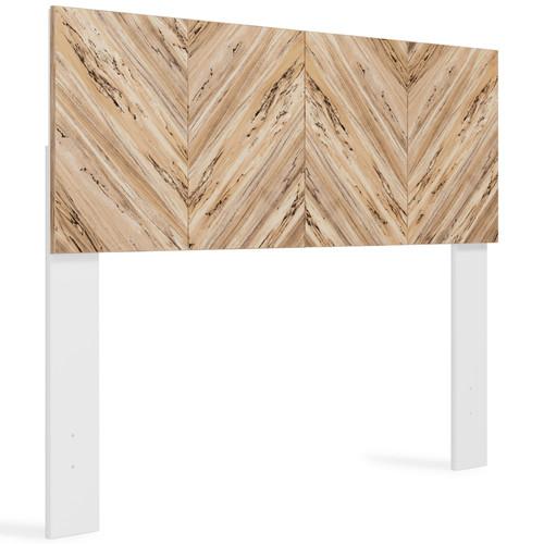 Piperton White / Brown / Beige Full Panel Headboard