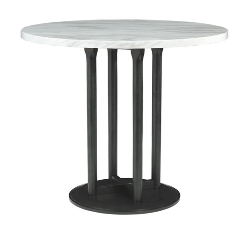 Centiar Two-tone Round Counter Table