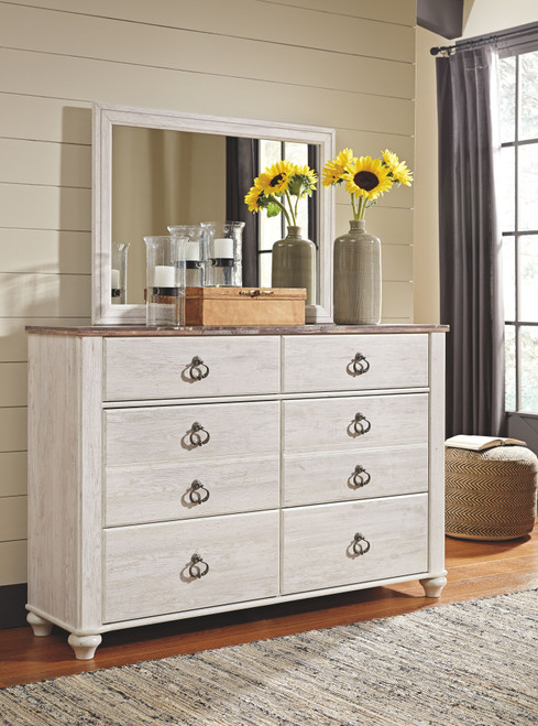 Willowton Whitewash Dresser, Mirror