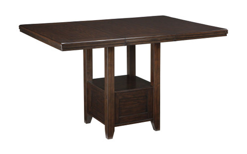 Haddigan Dark Brown Rectangular Counter Extension Table