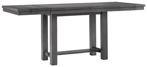 Myshanna Gray Rectangular DRM Counter EXT Table