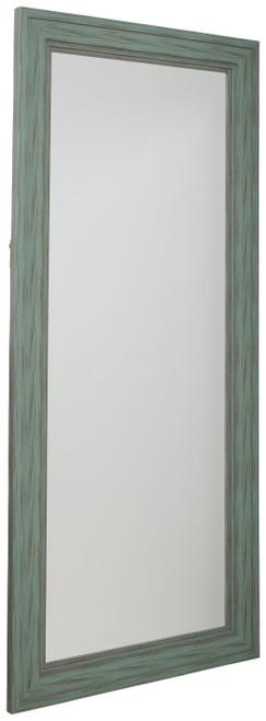 Jacee Antique Teal Floor Mirror