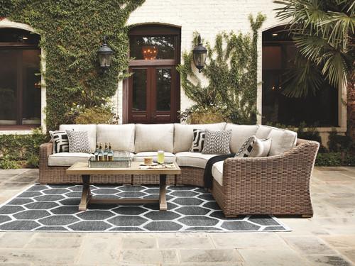 Beachcroft Beige 5 Pc. Sectional Lounge Set