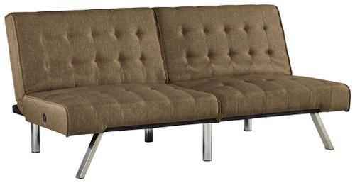 Sivley Brown Flip Flop Armless Sofa