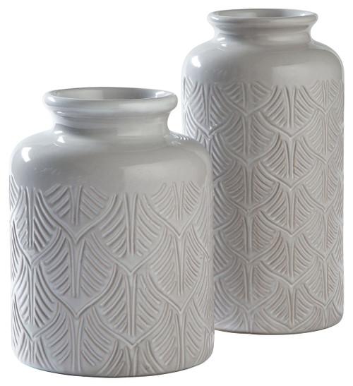 Edwinna Gray Vase Set (2/CN)