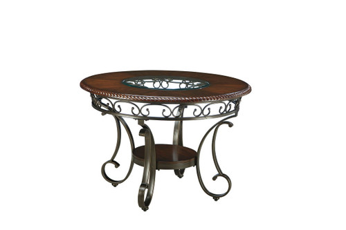 Glambrey Brown Round Dining Room Table
