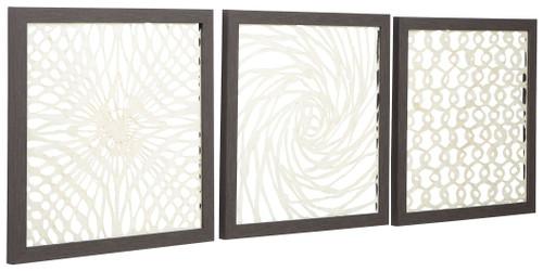 Odella Antique Gray/Cream Wall Decor Set (3/CN)