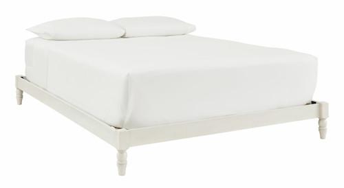 Tannally White Queen Platform Bed