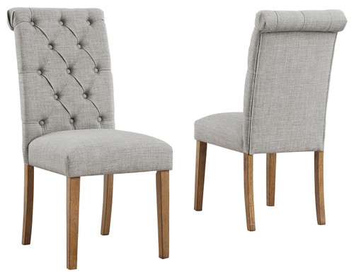 Harvina Light Gray Dining Upholstered Side Chair (Set of 2)
