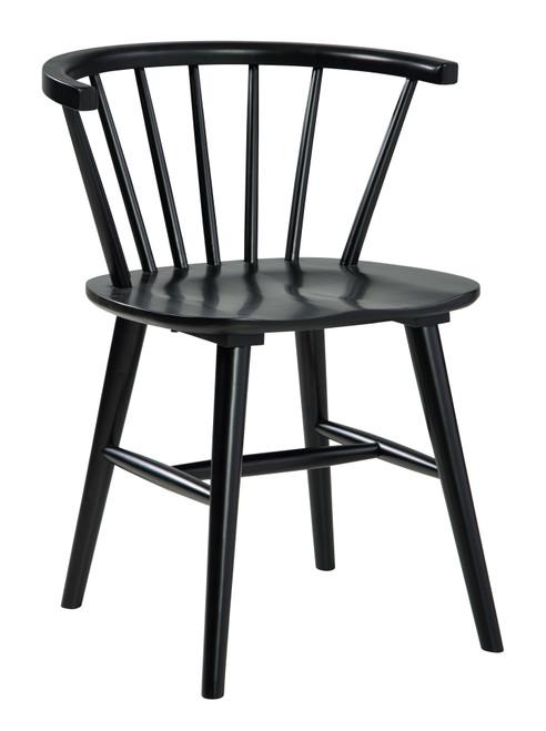 Otaska Black Dining Room Side Chair  (Set of 2)