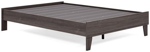 Brymont Dark Gray Full Platform Bed